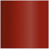 Background pattern with a knitted pattern pigtail on a red background.  Stock Photos