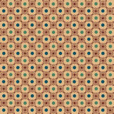 Background pattern light brown with green dots Royalty Free Stock Image