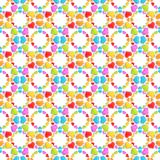 Background pattern made of hearts. Seamless pattern made of colorful glossy hearts as an abstract background composition Vector Illustration