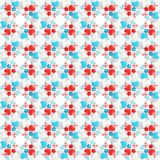 Background pattern made of hearts. Seamless pattern made of white, red and blue hearts as an abstract background composition Vector Illustration