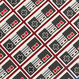 Background pattern made of vintage old school gzme controllers high quality render Stock Images
