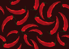 Background pattern with red peppers Royalty Free Stock Photography