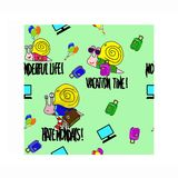 Background pattern with sanils ballons and suitcases stock illustration