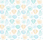 Background pattern with seashells Stock Images