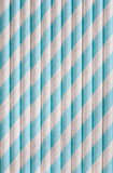 Background or pattern of spotted drinking paper straws Royalty Free Stock Photography