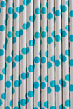 Background or pattern of spotted drinking paper straws Stock Image