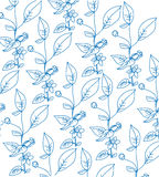 Background with a pattern of sprigs of flowers Royalty Free Stock Image