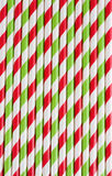 Background or pattern of striped drinking paper straws Stock Images