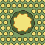 Background pattern with stylized flowers Stock Photo