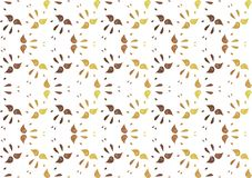 Background pattern of stylized leaves yellowed vector illustration