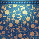 Background pattern. Texture of denim fabric. Royalty Free Stock Photo