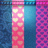 Background pattern. Texture of denim fabric. Royalty Free Stock Photography
