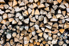 Background with pattern of tree logs Royalty Free Stock Photography