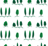 Background pattern with trees Royalty Free Stock Photos