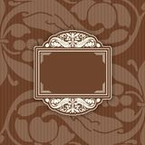 Background with a pattern vintage style with frame Royalty Free Stock Images