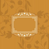 Vintage style floral frame Stock Photography