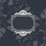 Background with a pattern vintage style with frame Stock Images