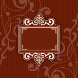 Background with a pattern vintage style with frame Royalty Free Stock Image
