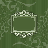 Background with a pattern vintage style with frame Stock Photo