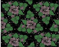 Background pattern from violet flowers Royalty Free Stock Image