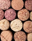 Background pattern of wine bottles corks Royalty Free Stock Photos