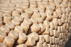 Wine bottles corks round Stock Image