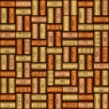 Background pattern of wine bottles corks - seamless background Royalty Free Stock Image