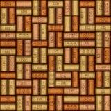 Background pattern of wine bottles corks - seamless background Royalty Free Stock Image