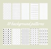 10 background patterns Royalty Free Stock Image