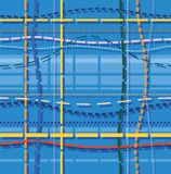 Background, patterns, the stitches, blue Royalty Free Stock Photography
