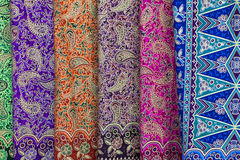 Background with patterns on the texture of fabric Royalty Free Stock Photo