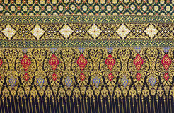 Background patterns of Thai fabric cotton Stock Photography