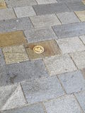 Background pavement. Pavement photo shot in the capital of Slovakia in Bratislava royalty free stock photography