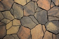 Background from paving stones, irregular natural stones Royalty Free Stock Photo