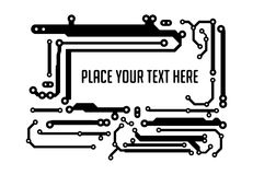 Background in PCB-layout style with empty space for your text. Royalty Free Stock Photo