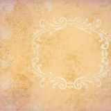 Background Peach Grunge With Frame Stock Images