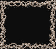 Background with pearl necklace Stock Image