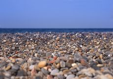 Background of a pebble beach Stock Photo