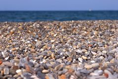 Background of a pebble beach Royalty Free Stock Image