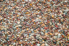 Background of pebble stones on beach, texture Stock Images