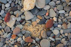 Background with pebbles and rocks Stock Photos