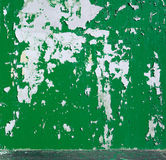 Background peeled green paint on the wall. Stock Photography