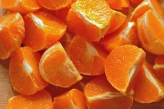 Background of peeled orange Stock Photo