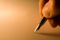 Background with pen Royalty Free Stock Photos