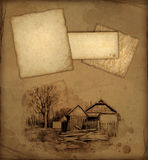 Background with pencil drawing Royalty Free Stock Images