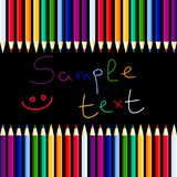 Background with pencils. Background with color pencils. Vector illustration Stock Photos