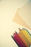 Background with pencils Royalty Free Stock Image