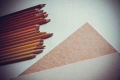 Background with pencils Stock Photography