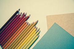 Background with pencils Royalty Free Stock Photos