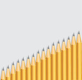 Background with pencils placed diagonally Stock Image